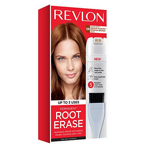 Revlon Root Erase Permanent Hair Color, Root Touchup Hair Dye, Medium Auburn/reddish Brown, 3.2 Fluid Ounce