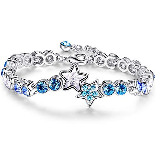 (BONLAVIE Womens Lucky Star Tennis Bracelet Link Chain 8