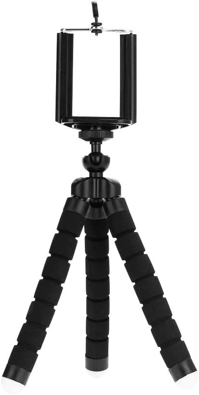 E/&M Universal Cell Phone Tripod Mount Fits Any Size Cell Phone Google Adjustable and Flexible Camera Tripod Stand Samsung iPhone