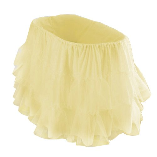 bkb Bassinet Petticoat, Yellow, 16'' x 32''