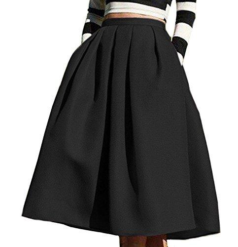 Full Skirt Pleats Skirt - 8