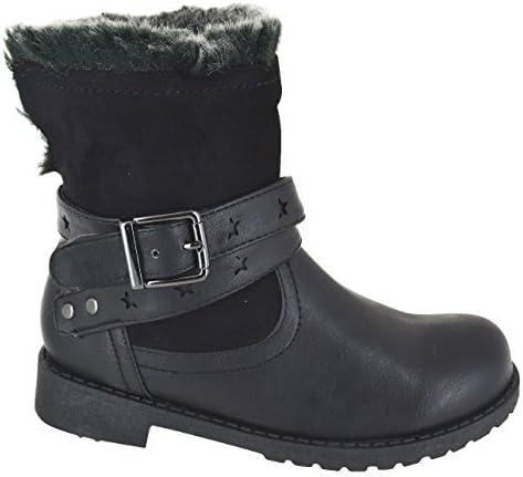 Faux Fur Lined School Shoes Boots