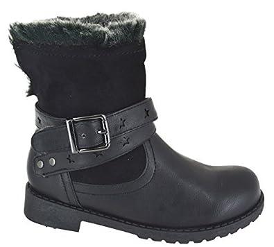 EYESONTOES Kids Girls WAINTER Warm Winter Ankle Faux Fur Lined School Shoes  Boots Size 9,2