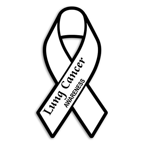 Lung Cancer Awareness Ribbon Sticker/Decal - Set of 3 - -