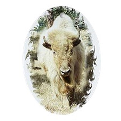 CafePress Sacred White Buffalo Oval Ornament Oval Holiday Christmas Ornament