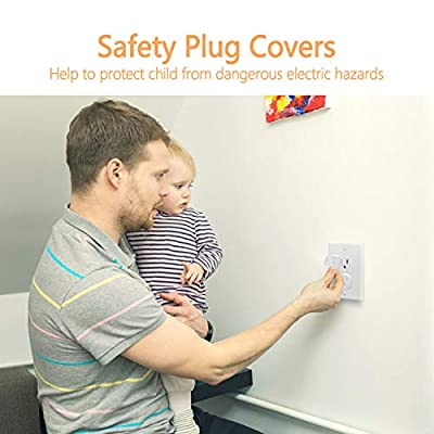 KPSTEK Outlet Covers, 42 Pack Child Proof Wall Outlet Plug Cover with Durable Storage Box