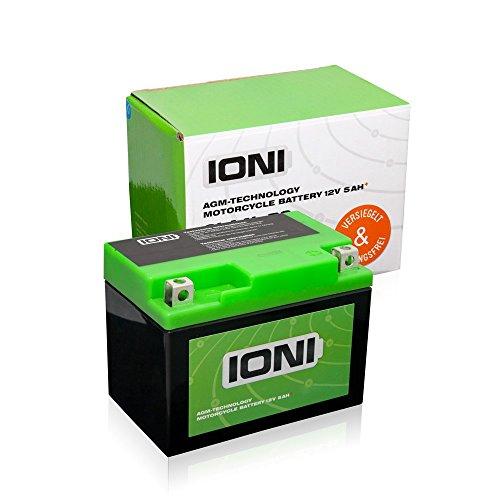 Batterie 12V 5Ah AGM IONI (TYP - SLA4L-BS) Rollerbatterie (versiegelt / wartungsfrei)