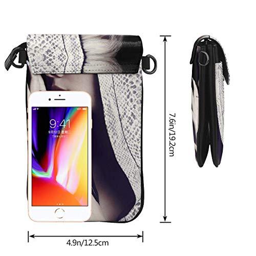 Hdadwy mobiltelefon crossbody väska halsey läder smartphone crossbody plånbok handväska, kvinnor liten crossbody väska