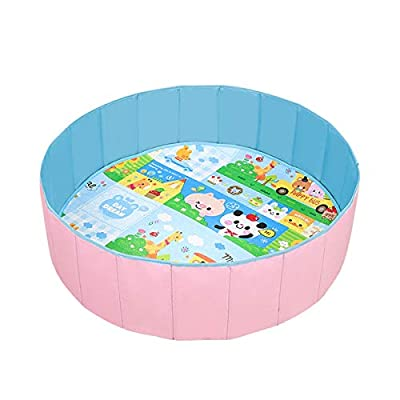 Foldable Ball Pit Pool, Baby Kids Play Game Fence, Indoor Outdoor Ocean Ball Toy House : Baby