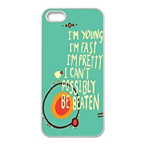 For HTC One M9 Phone Case Cover 't Possibly Be Beaten Young Quote Hard Shell Back White For HTC One M9 Phone Case Cover 335906