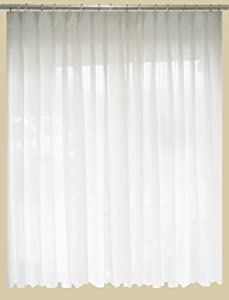 SAARIA Sheer Curtain Semi Transparent Drapes Pinch Pleated Backdrop 5 Ft W  X 7 Ft H