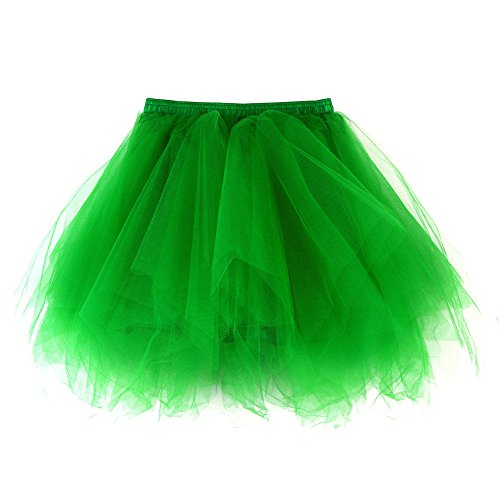 Adulte Puffy Jupe Jupe Danse Tulle Petticoat Vert Tutu Femmes en Ballet Costume Multi Layer Jupon Tutu Tutu 0Twzf