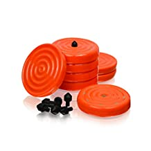 Slipstick CB700 Universal Bench Grippers with Non Slip Grip Surface, Orange