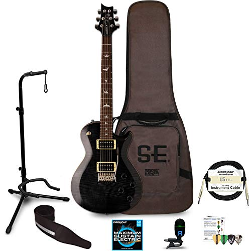 PRS SE Mark Tremonti Electric Guitar with Accessories, Gray Black