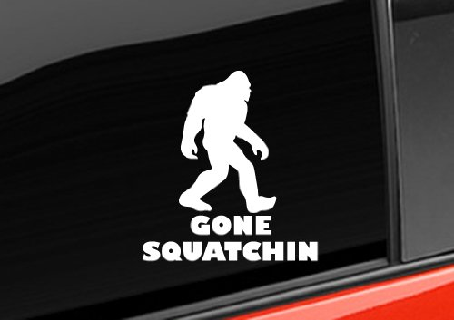 Gone Squatchin Bigfoot Decal