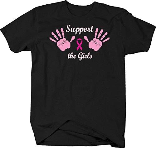 BQM Gear Support The Girls Breat Cancer Awareness Relentless Fighter Tshirt - Medium -
