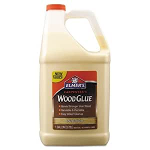 Elmer's - Carpenter Wood Glue, Beige, Gallon Bottle E7050 (DMi EA by Elmer's
