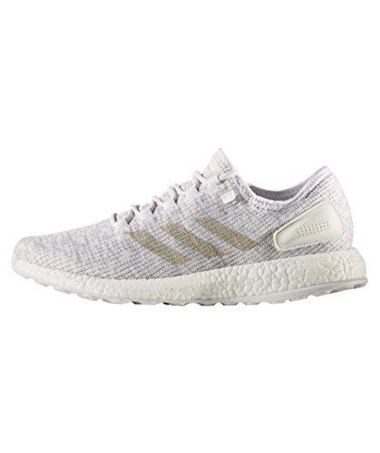 adidas Pureboost Mens Running Trainers Sneakers (UK 10.5 US 11 EU 45 13, White Grey S81991)