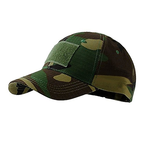 (Camouflage Hat, Summer Outdoor UV Protection Sun Hat Army Woodland Camo Tactical Cap Jungle Camouflage)