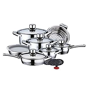 Authentic zillinger 17 piece deluxe stainless for Spong kitchen set 702