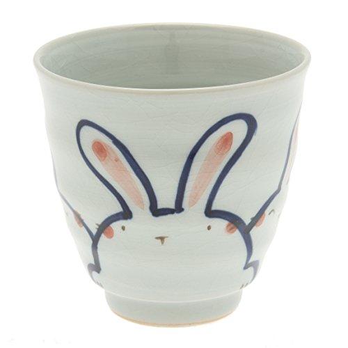 "Kotobuki Blue ""Trio of Rabbits"" Tea Cup"