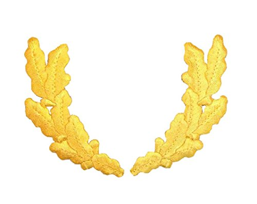 Yellow Scrambled Eggs Military Uniform Iron on Embroidered Patch ()