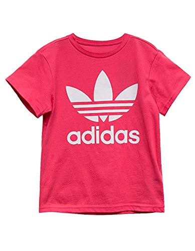 Adidas white Tee Kids Unisex Real big Originals Kids Pink Kids little Small Trefoil TUWTrRP