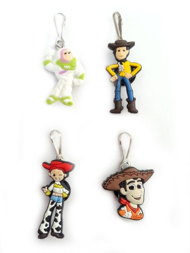 AVIRGO 4 pcs Zipper Pulls / Zip pull Charms for Jacket Backpack Bag Pendant Set # 109-2 by Hermes (Slinky Dog Toy Story Costume)