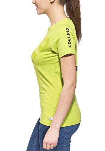 Edelrid Wo Logo T - Camiseta de escalada, todo el año, mujer, color verde - Chute Green (459), tamaño L verde - Chute Green (459)