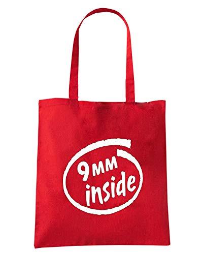 9MM FUN0236 Shirt Rossa Shopper Speed INSIDE Borsa x4FwSa