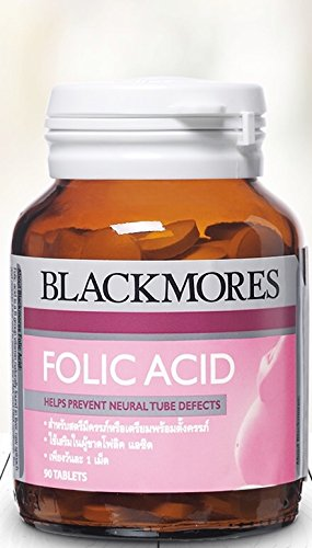250 Mcg 90 Tabs - Blackmores Folic Acid 500 Mcg for Pregnancy or Pre-conception (90 Tablets/Bottle)