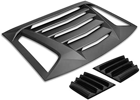 IKON MOTORSPORTS Window Louver Compatible With 2011-2020 Dodge Charger V2 Style,Rear and Side Quarter Scoop Louvers