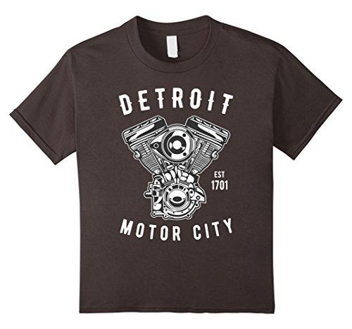 City Classic Car (Kids Big Block Detroit Motor City Michigan Car Enthusiast Tshirt 12 Asphalt)