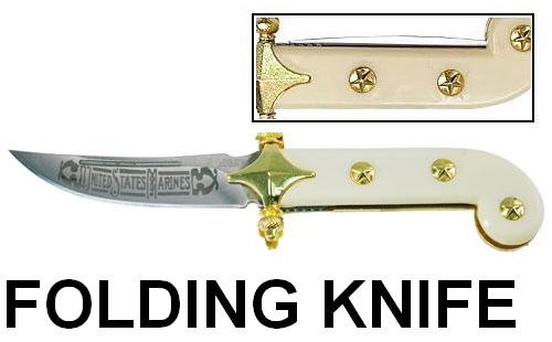 Tomahawk USMC Ivory Folding Knife, Outdoor Stuffs