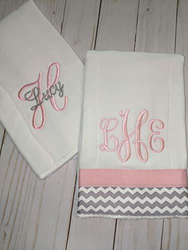 Custom Monogrammed Baby Burp Cloth - 7