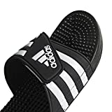 adidas Women's Adissage Slide, Black/White/Black, 8