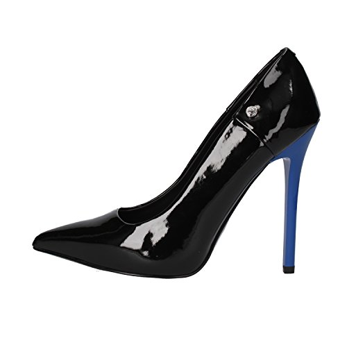 Versace Patent Leather - Versace Jeans Pumps Woman 10 US/40 EU Black Blue Patent Leather