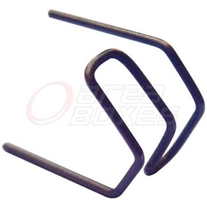 """Grapa de acero inoxidable 0,8 mm formato """"Doble V"""" para soldador"""