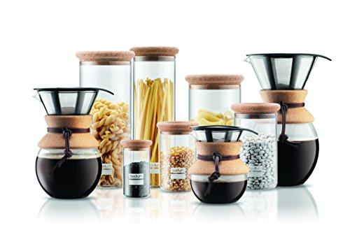 Bodum 11571-109 Pour Over 1 L Coffee Maker with Permanent Filter, 34 oz, Cork Band Appliances ...