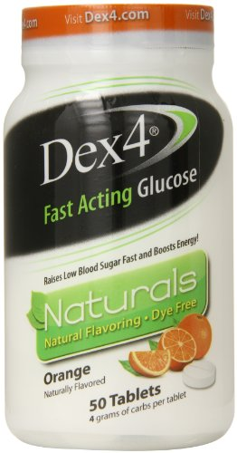 Tabletas de glucosa Dex4, naturales de naranja, cuenta 50