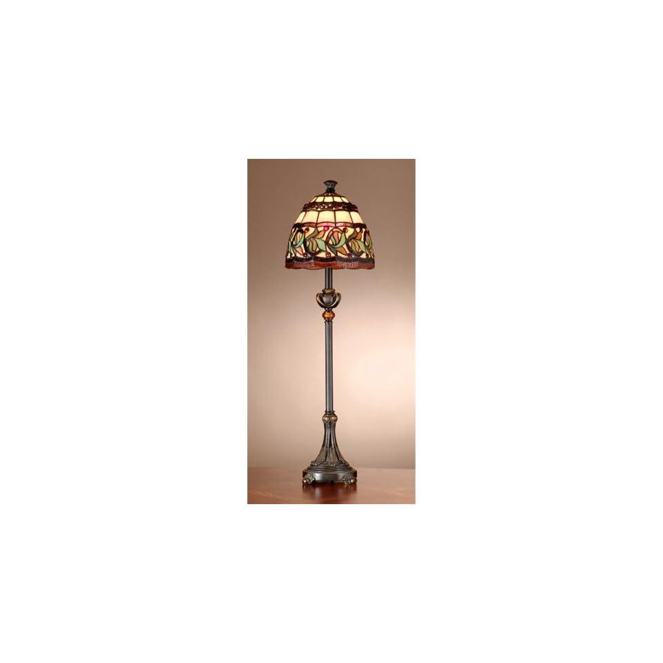 Dale Tiffany TB101109 Aldridge Buffet Lamp, Antique Bronze