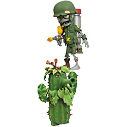 Diamond Select Toys Plants vs. Zombies: Garden Warfare: Soldier Zombie with Commando Head and Ghillie Cactus with Potato Mine Select Action Figure (2-Pack)