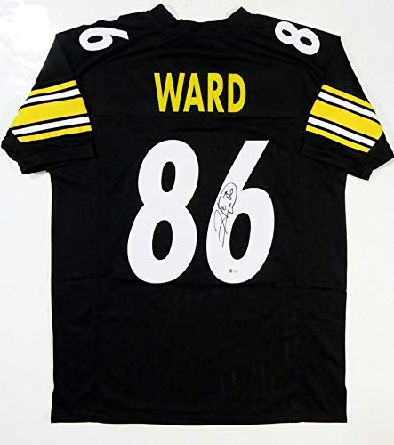 Hines Ward Autographed Jersey - Black Pro Style Beckett Auth *6 - Beckett Authentication - Autographed NFL Jerseys