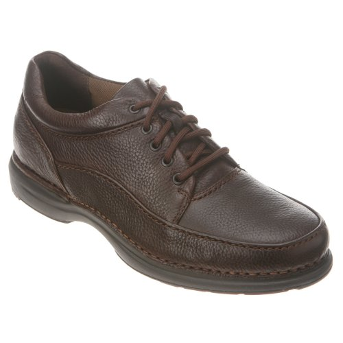 Brown Tumbled Leather Air (Rockport Men's Evander Oxford,Dark Brown Tumbled,11M)