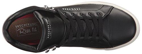 Skechers Donna Prima Stringate In Pelle Sneaker Nera