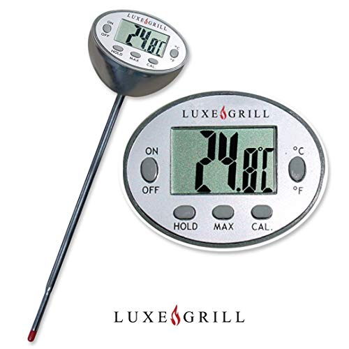 Luxe Grill Digital Meat Thermometer - Cooking and BBQ - Instant Read Digital Thermometer