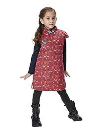 Handmade Girls Cotton Dress Overcoat Chinese Cheongsam Qipao Kids Clothing #205