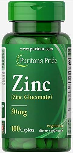 Puritan's Pride Zinc 50 mg-100 Caplets
