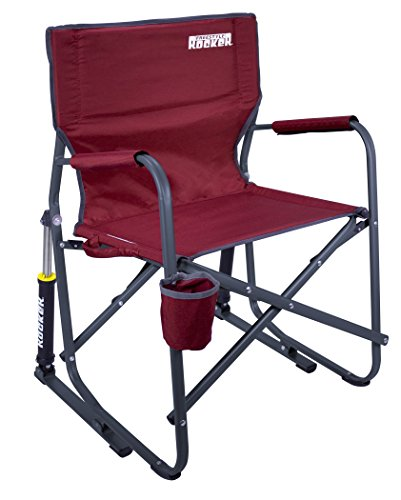 GCI Outdoor Freestyle Rocker Chair, Cinnamon - Folding Camp Rocking Chair