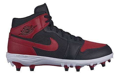 Nike Jordan 1 TD MID Mens Fashion-Sneakers AR5604-061_9.5 - Black/Varsity RED-Varsity RED-White ()